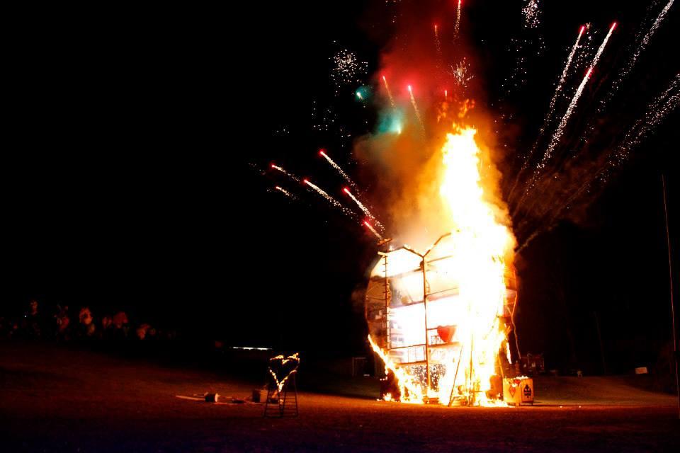 Fire Event 2013 14 Woodford Folk Festival Ben Hughes